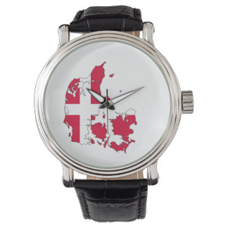 denmark country flag map shape danish wrist watches