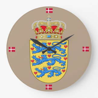 Denmark Crest Wall Clock