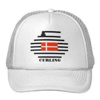 Denmark Curling Trucker Hat