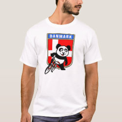 Men's Basic T-Shirt with Danish Cycling Panda design