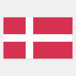 Denmark/Danish/Dane Flag Rectangular Sticker