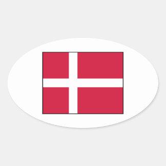 Denmark – Danish Flag Oval Sticker