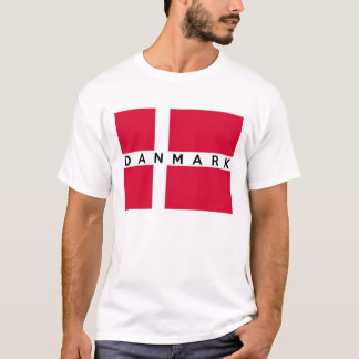 denmark danmark flag country danish text name T-Shirt