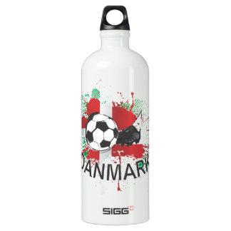 Denmark Danmark football and soccer cleat design Aluminum Water Bottle