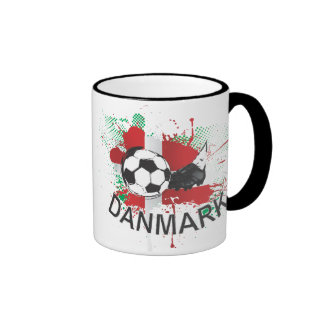 Denmark Danmark football and soccer cleat design Coffee Mugs
