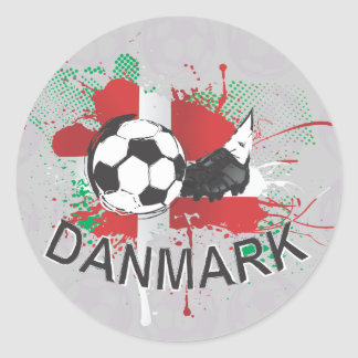 Denmark Danmark football and soccer cleat design Stickers