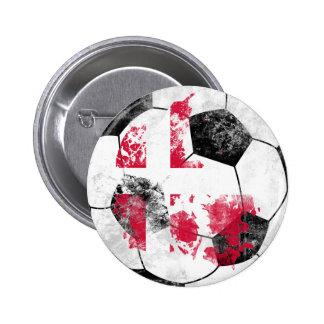 Denmark Distressed Soccer 2 Inch Round Button
