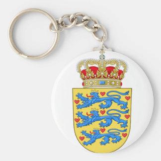 denmark emblem keychain