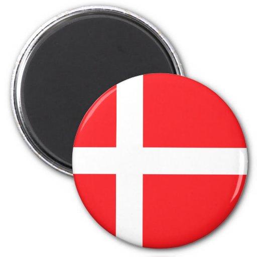 Denmark Flag 2 Inch Round Magnet