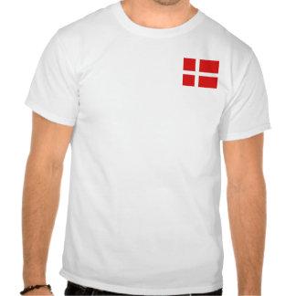 Denmark Flag and Map T-Shirt