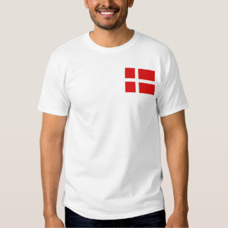 Denmark Flag and Map T-Shirt