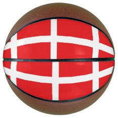 Denmark Flag Basketball at Zazzle