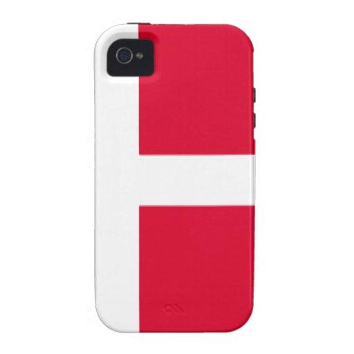 Denmark Flag Case-Mate iPhone 4 Case
