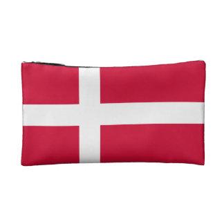 Denmark Flag Cosmetic Bag