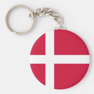 Denmark Flag DK Keychain