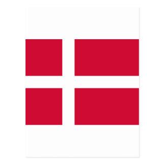 Denmark Flag DK Postcard