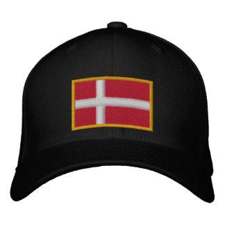 Denmark Flag Embroidered Baseball Cap
