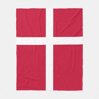 Denmark Flag Fleece Blanket