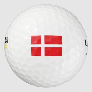 Denmark Flag Golf Balls