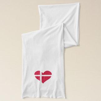 Denmark Flag Heart Scarf