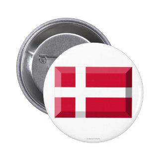 Denmark Flag Jewel 2 Inch Round Button