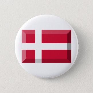Denmark Flag Jewel Pinback Button