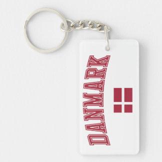 Denmark + Flag Keychain