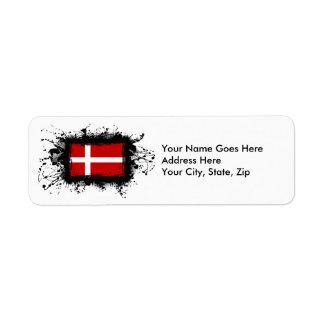 Denmark Flag Label