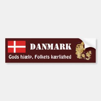 Denmark Flag + Map Bumper Sticker