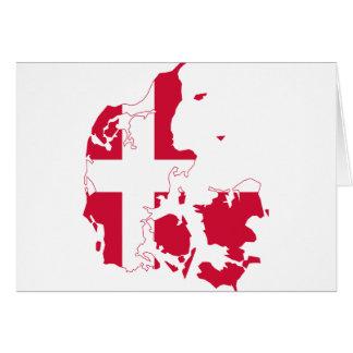 Denmark Flag map DK Greeting Card