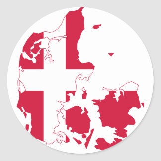 Denmark Flag map DK Stickers
