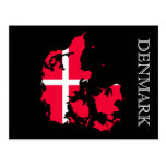 denmark flag map postcard