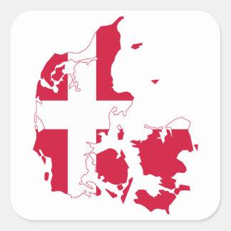 Denmark Flag Map Stickers