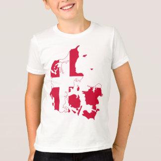 Denmark Flag Map T-Shirt