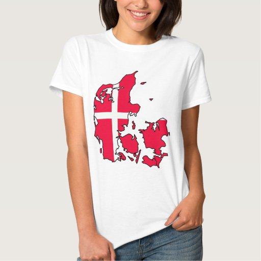 denmark flag map t shirts