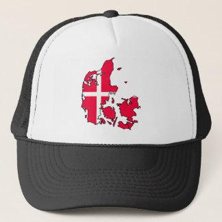 denmark flag map trucker hat