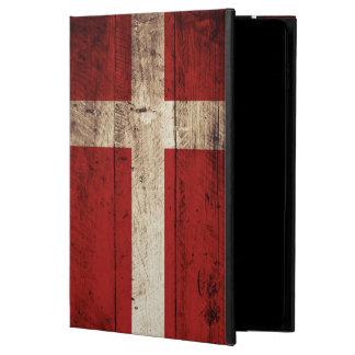 Denmark Flag on Old Wood Grain Powis iPad Air 2 Case