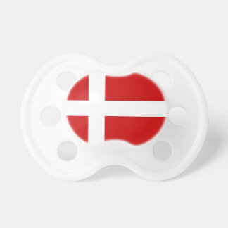Denmark Flag Baby Pacifiers