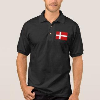 Denmark Flag Polo Shirt