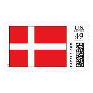 Denmark Flag Postage Stamps