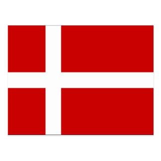 Denmark Flag Postcard