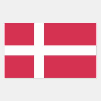Denmark Flag Rectangular Stickers