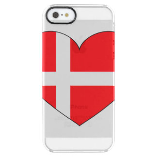 Denmark Flag Simple Clear iPhone SE/5/5s Case