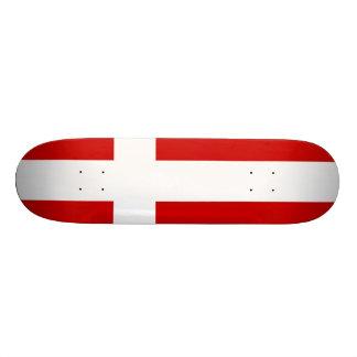 Denmark Flag Skateboard