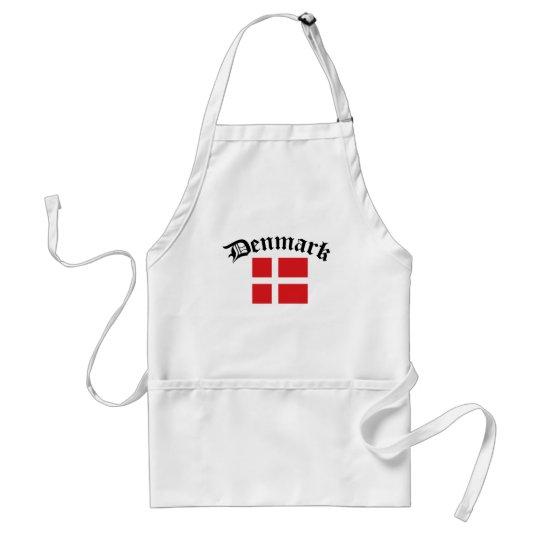 Denmark Flag w/Inscription Adult Apron