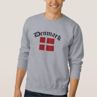 Denmark Flag w/Inscription Pullover Sweatshirt