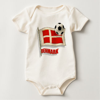 Denmark Fodbold fans gifts vintage flag ball gifts Baby Bodysuit