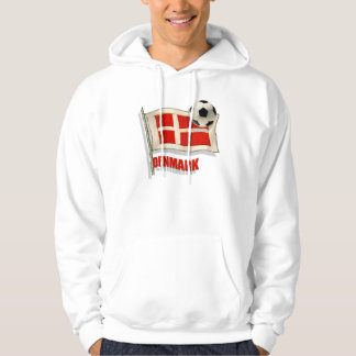 Denmark Fodbold fans gifts vintage flag ball gifts Hoodie