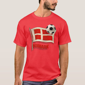 Denmark Fodbold fans gifts vintage flag ball gifts T-Shirt