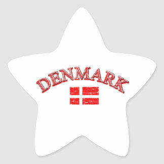 Denmark football design star sticker
